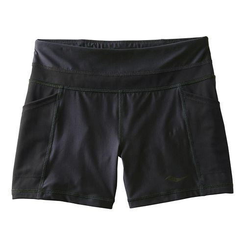 Womens Saucony Bullet Tight Unlined Shorts - Black XS