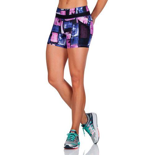 Womens Saucony Bullet Tight Unlined Shorts - Indigo S