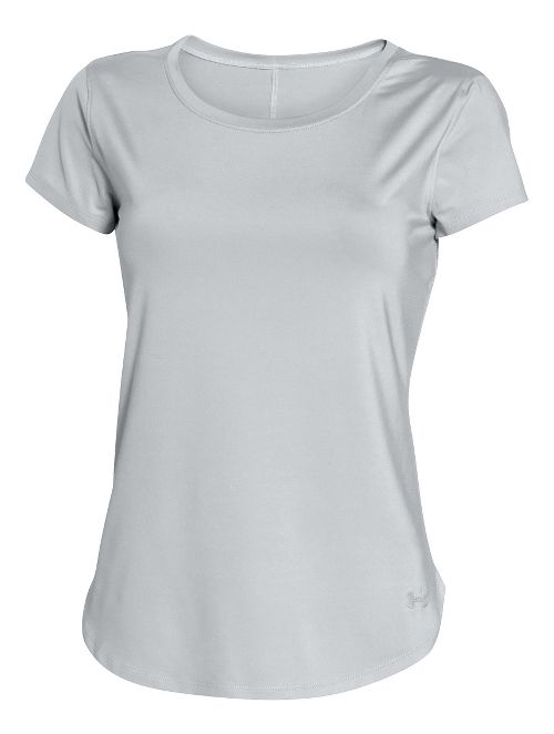 Womens Under Armour Fly By Short Sleeve Technical Tops - Elemental XL