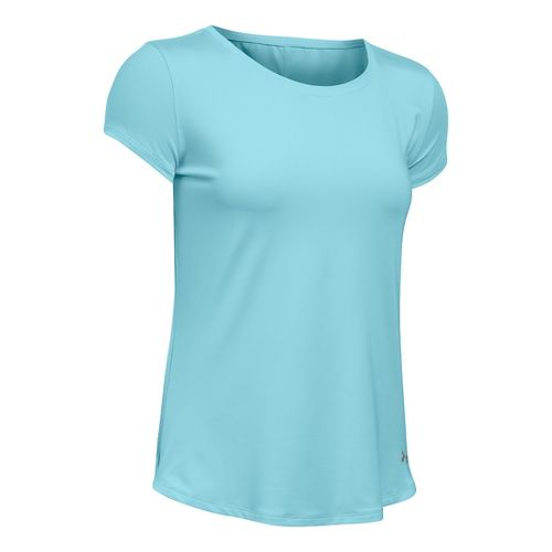 Womens Under Armour Fly By Short Sleeve Technical Tops - Maui XS