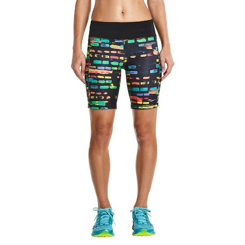 Womens Saucony Scoot Tight Unlined Shorts - Black Multi M