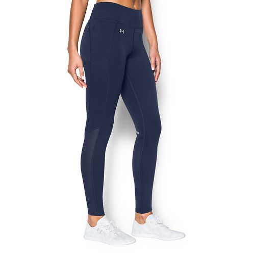 Womens Under Armour Fly By Run Tights & Leggings Pants - Navy Seal S
