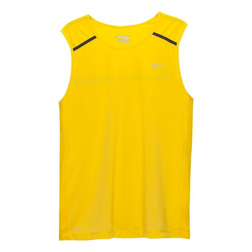 Mens Saucony Freedom Sleeveless & Tank Technical Tops - Sun M