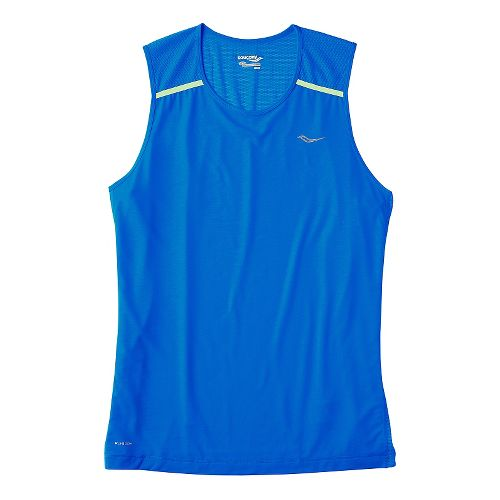 Mens Saucony Freedom Sleeveless & Tank Technical Tops - Aero Blue M
