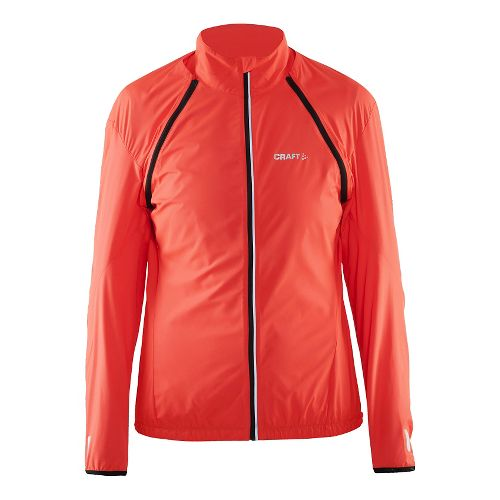 Womens Craft Path Convert Rain Jackets - Shock/Black XS