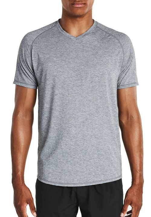Mens Saucony Freedom V-Neck Sleeveless & Tank Tops Technical Tops - Dark Grey Heather XXL