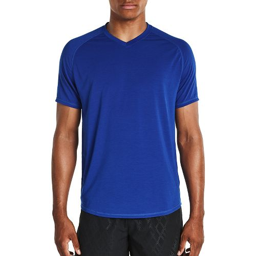 Mens Saucony Freedom V-Neck Sleeveless & Tank Tops Technical Tops - Varsity Blue M