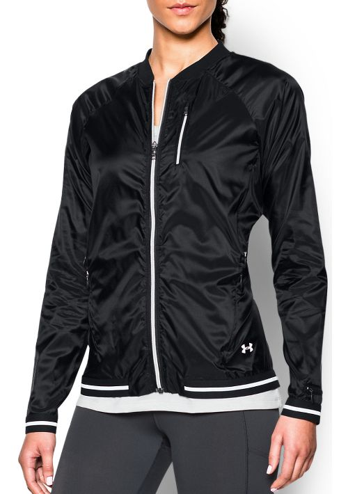 Womens Under Armour Fly By Cold Weather Jackets - Black S