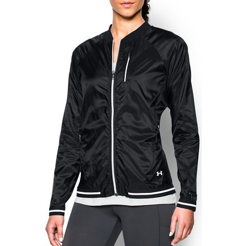Womens Under Armour Fly By Cold Weather Jackets - Black M