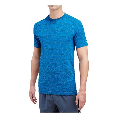 Mens Saucony Dash Seamless Short Sleeve Technical Tops - Aero Blue L