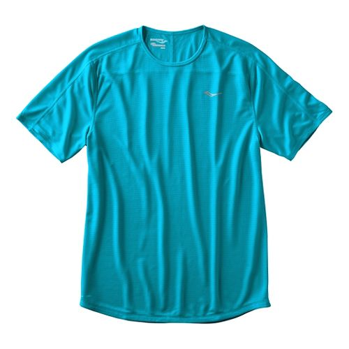 Mens Saucony Hydralite Short Sleeve Technical Tops - Rainforest L