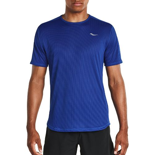 Mens Saucony Hydralite Short Sleeve Technical Tops - Varsity Blue XL