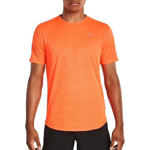 Mens Saucony Hydralite Short Sleeve Technical Tops - VIZiPRO Orange XXL