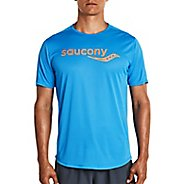 Mens Saucony Short Sleeve Technical Tops