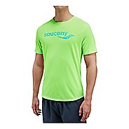 Mens Saucony Saucony Short Sleeve Technical Tops