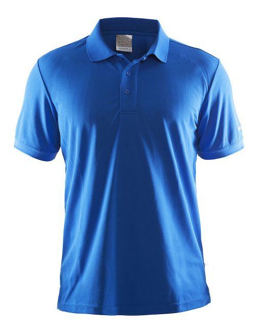 Mens Craft Polo Shirt Pique Classic Short Sleeve Technical Tops - Black XXL