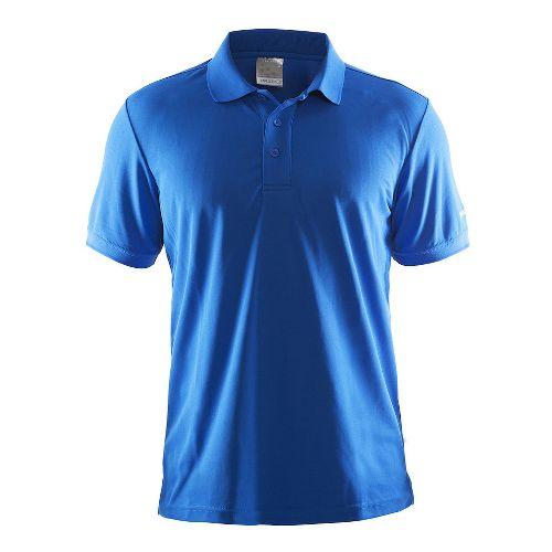 Mens Craft Polo Shirt Pique Classic Short Sleeve Technical Tops - Black S