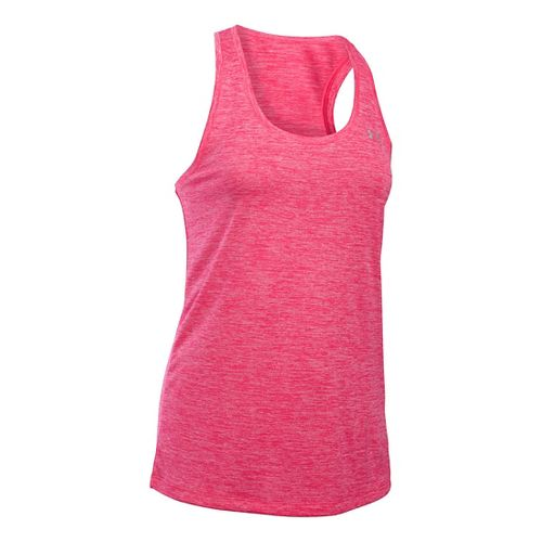 Womens Under Armour Tech Twist Sleeveless & Tank Technical Tops - Pink Sky S