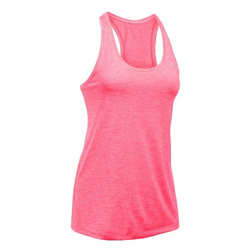 Womens Under Armour Tech Twist Sleeveless & Tank Tops Technical Tops - Pink Shock XS ...