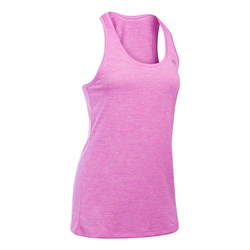 Womens Under Armour Tech Twist Sleeveless & Tank Technical Tops - Verve Violet L