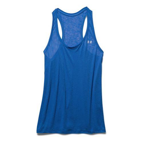 Womens Under Armour Slub Tech Sleeveless & Tank Technical Tops - Ultra Blue M