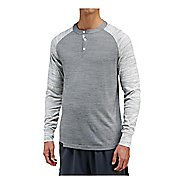 Mens Saucony Relay Henley Long Sleeve Technical Tops
