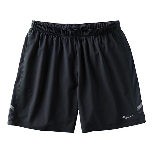 Mens Saucony Run Lux Short Lined Shorts - Black/Black L