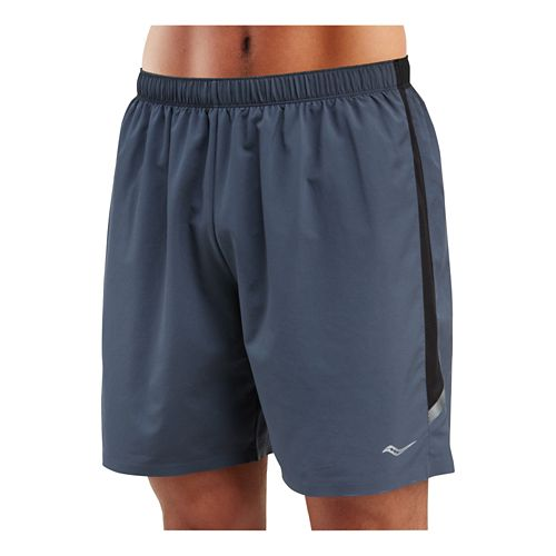 Mens Saucony Run Lux Short Lined Shorts - Carbon XL