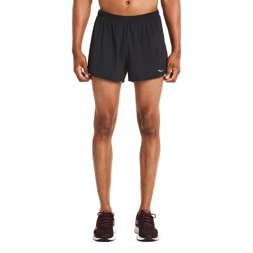 Mens Saucony Endorphin Split Shorts - Black XXL