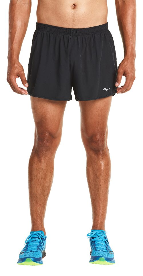 Mens Saucony Endorphin Splits Shorts - Black/VIZiPRO L