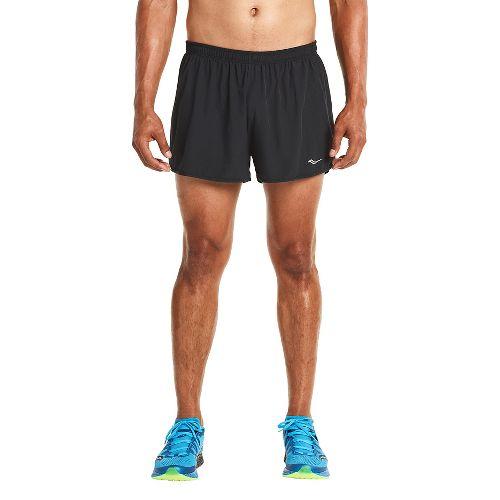 Mens Saucony Endorphin Splits Shorts - Black/VIZiPRO M
