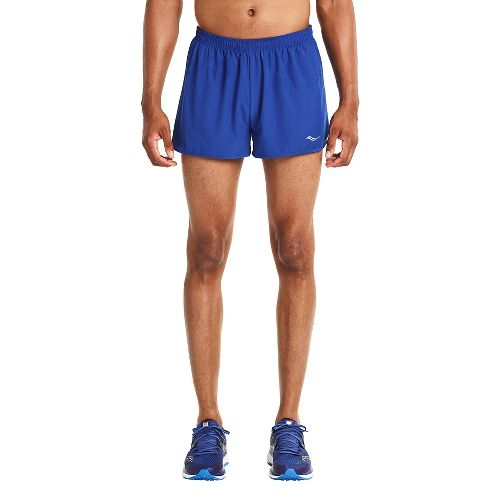 Mens Saucony Endorphin Splits Shorts - Varsity Blue L
