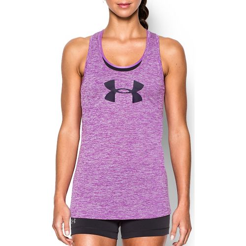 Womens Under Armour Graphic Twist Tech Sleeveless & Tank Technical Tops - Mega Magenta L