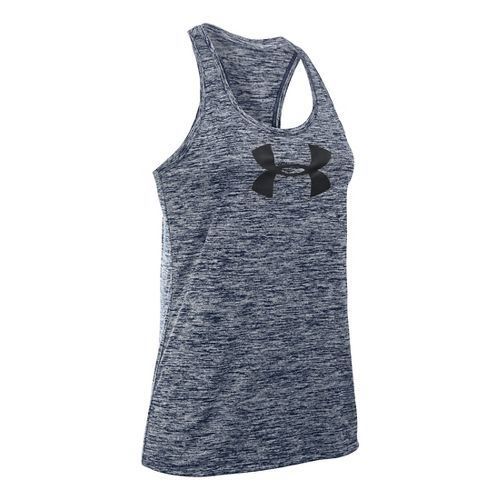 Womens Under Armour Graphic Twist Tech Sleeveless & Tank Technical Tops - Navy Seal S ...