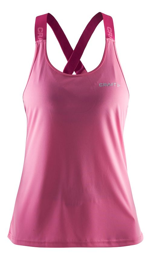 Womens Craft Pure Elastic Sleeveless & Tank Technical Tops - Pop/Smoothie XS