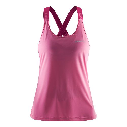 Womens Craft Pure Elastic Sleeveless & Tank Technical Tops - Pop/Smoothie M