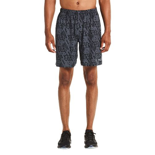 Mens Saucony Interval 2-in-1 Shorts - Carbon M