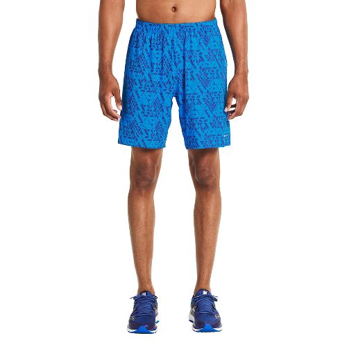 Mens Saucony Interval 2-in-1 Shorts - Brilliant Blue S