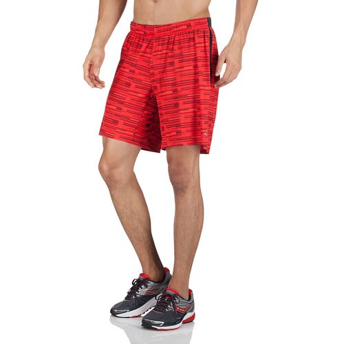 Mens Saucony Interval 2-in-1 Shorts - Strong Red S