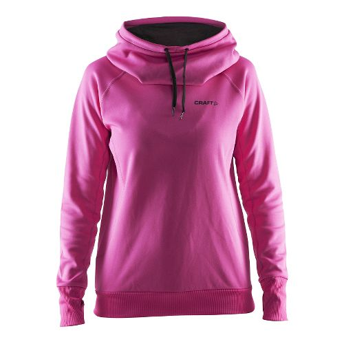 Womens Craft Pure Half-Zips & Hoodies Technical Tops - Smoothie/Black L