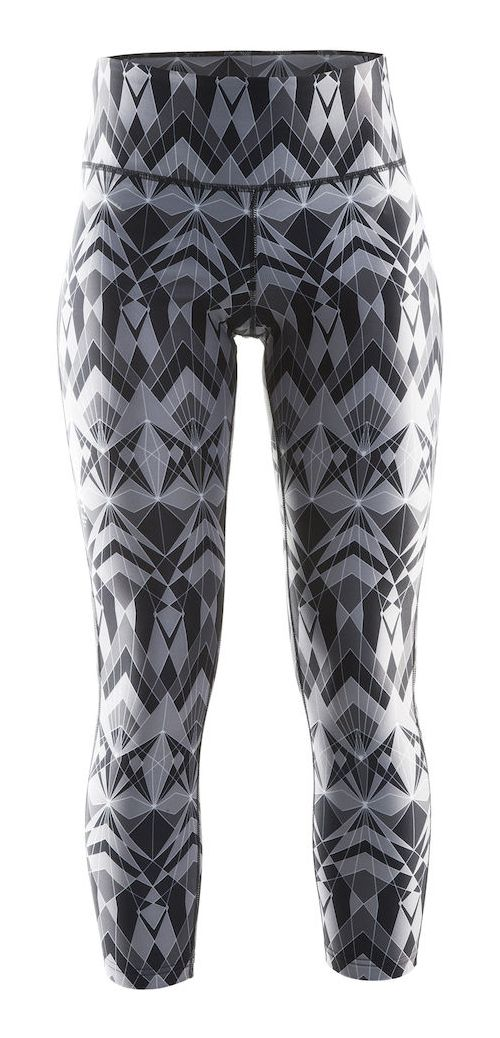 Womens Craft Pure Print Tights & Leggings Pants - Geo Pop/Silver L