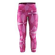 Womens Craft Pure Print Tights & Leggings Pants - Geo Pop/Silver XS