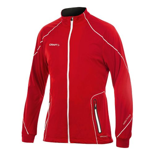 Mens Craft PXC High Function Club Running Jackets - Bright Red L