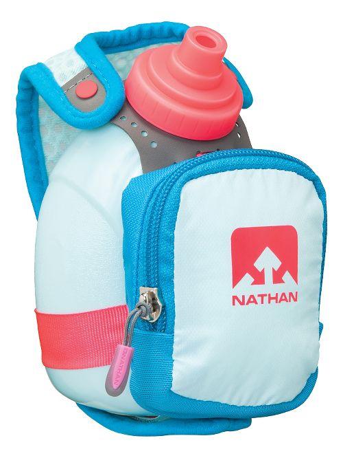 Nathan QuickShot Plus Bottle 10 ounce Hydration - Blue Danube