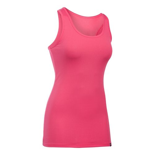 Womens Under Armour Victory Sleeveless & Tank Technical Tops - Pink Sky S