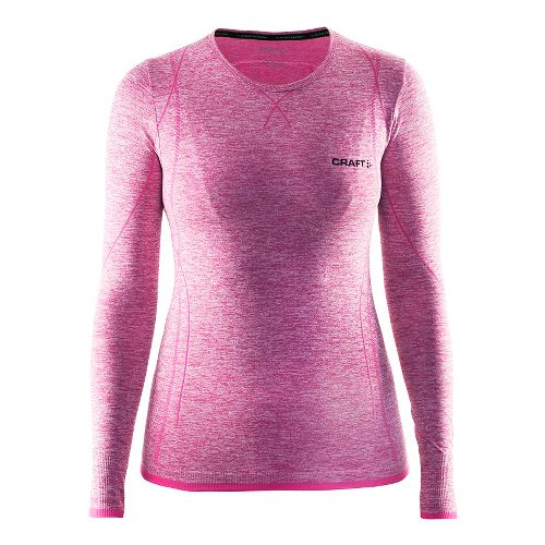 Womens Craft Roundneck Long Sleeve Technical Tops - Smoothie M