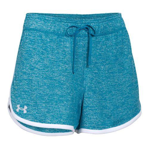 Womens Under Armour Twist Tech Lined Shorts - Aqua Blue L
