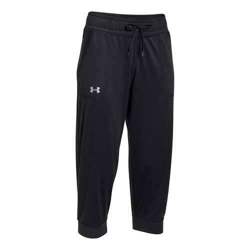 Womens Under Armour Tech Capris Pants - Black XXL