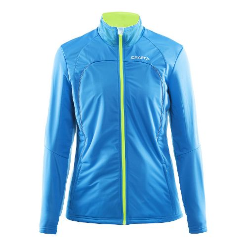 Womens Craft Storm Running Jackets - Blue/Grey L