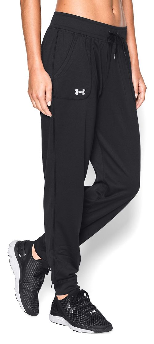 Womens Under Armour Tech Pants - Black L